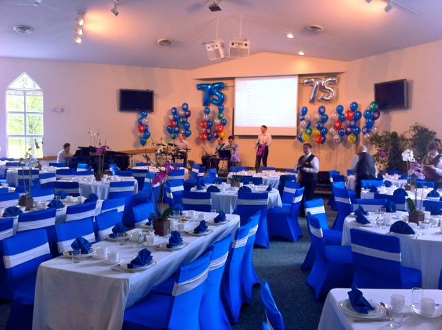Blue And White Decorations balloon decorations | sas party decorations