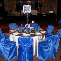 Bright Blue Chairs
