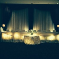 ivory/brown backdrop with crystals